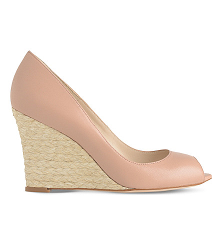 LK BENNETT Estela peep toe wedge (Bei-trench