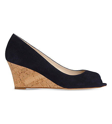 LK BENNETT Kiki peep toe wedge