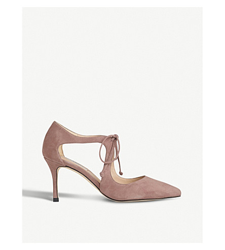 LK BENNETT Hyelin suede courts (Pin-cloud+pink