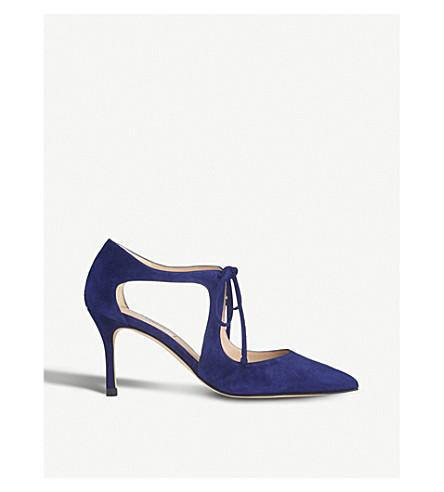LK BENNETT Hyelin suede courts (Blu-ink+blue