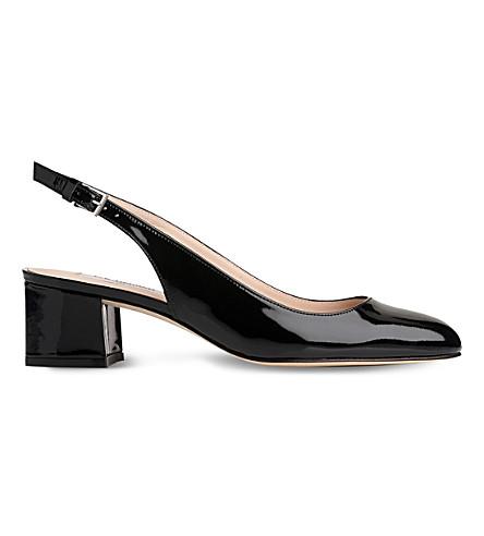LK BENNETT Chloe patent leather slingback courts (Bla-black
