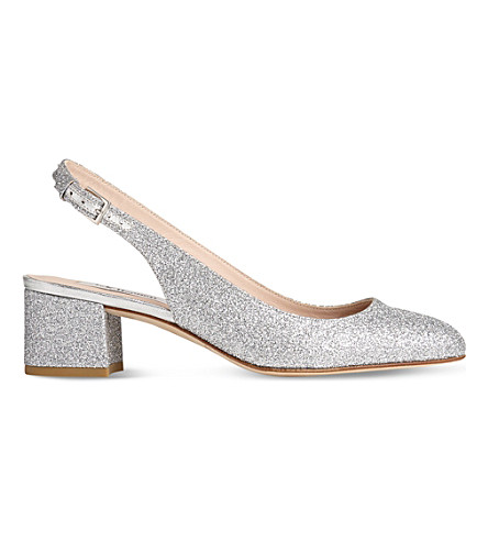 LK BENNETT Chloe sling-back patent-leather courts (Sil-silver