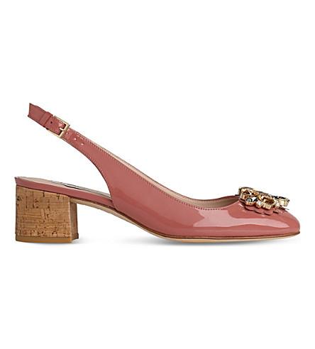 LK BENNETT Elvira patent slingback courts (Pin-dark+pink