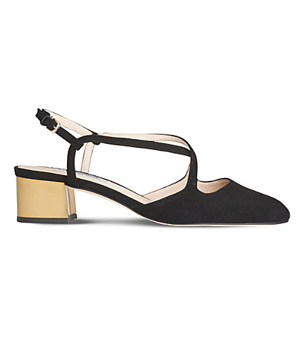 LK BENNETT Claudette suede block heel sandals (Bla-black
