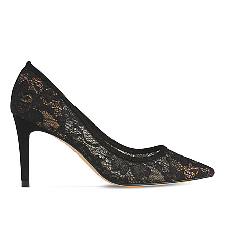 LK BENNETT Floret lace courts (Bla-black