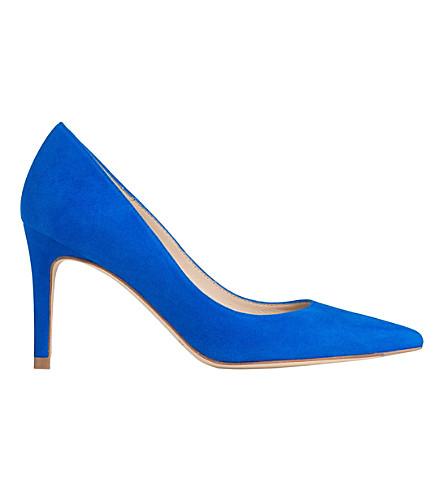 LK BENNETT Floret suede court shoes (Blu-majorelle