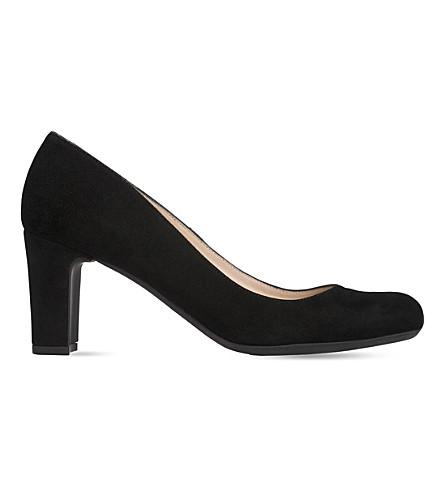 LK BENNETT Sersha 麂皮绒宫廷鞋 (黑白