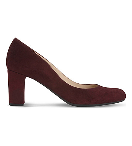 LK BENNETT Sersha suede courts (Red-oxblood