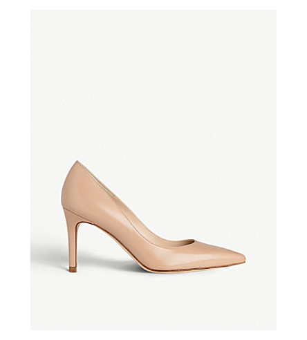 LK BENNETT Floret pointed leather court shoes (Bei-trench