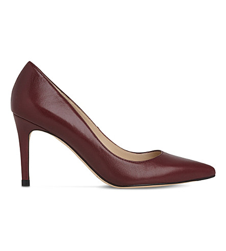 LK BENNETT Floret leather courts (Red-oxblood
