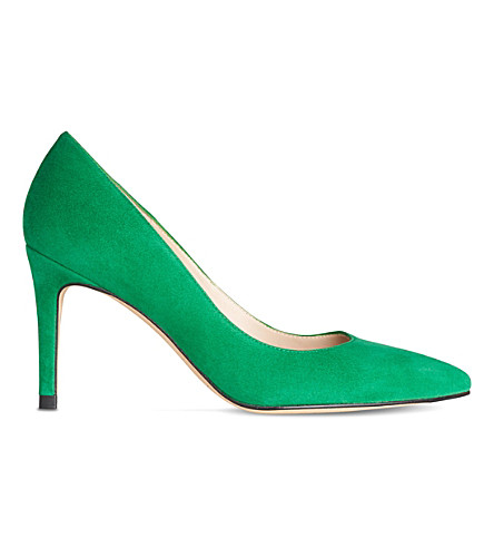 LK BENNETT Floret suede courts (Gre-apple+green