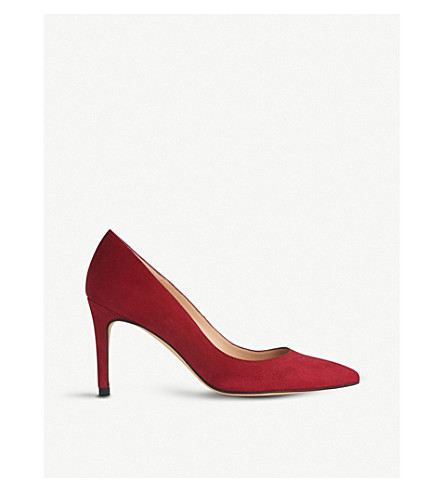 LK BENNETT Floret suede courts (Red-poppy