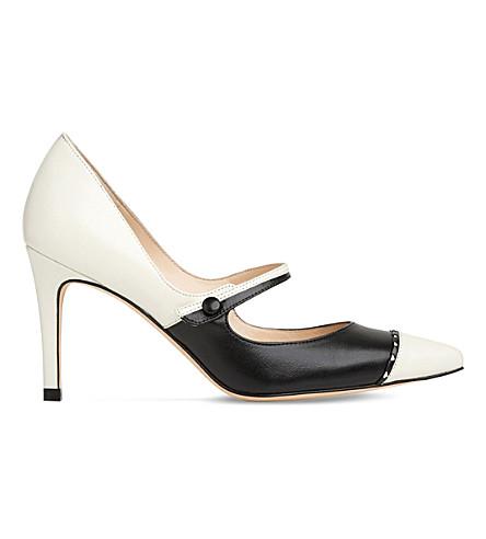 LK BENNETT Laylah leather mary-jane pumps (Mul-ivory/black