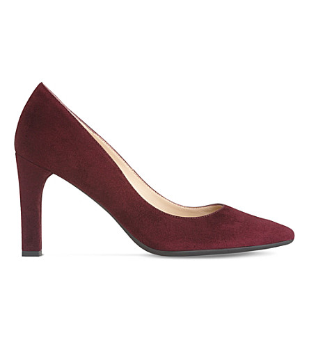 LK BENNETT Tess suede courts (Red-oxblood