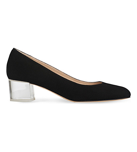 LK BENNETT Arielle perspex block heel courts