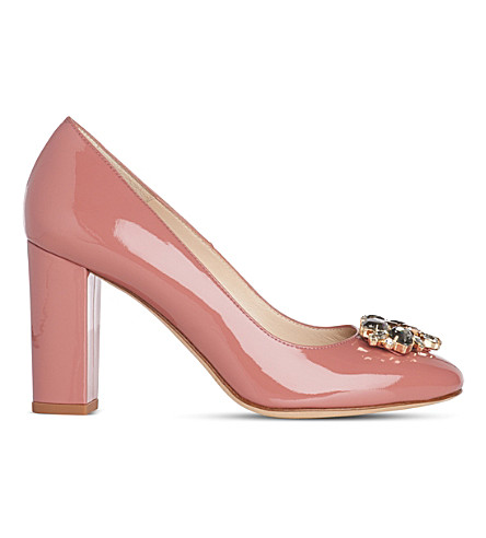LK BENNETT Tonnia patent leather courts (Pin-dark+pink