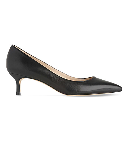 LK BENNETT Audrey leather kitten heel courts (Bla-black