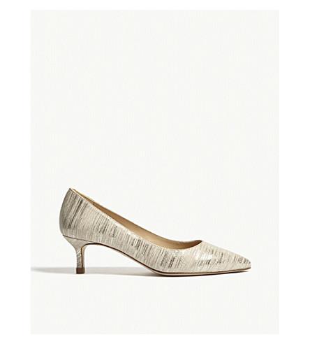 LK BENNETT Audrey kitten heels (Gol-soft+gold
