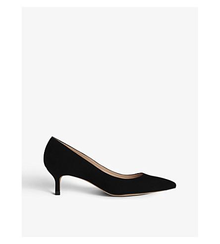 LK BENNETT Audrey suede kitten heel courts (Bla-black