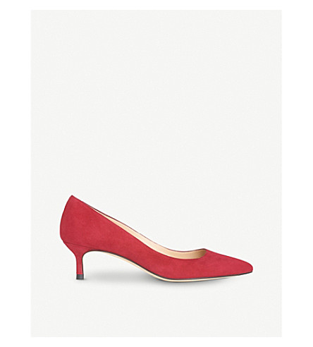 LK BENNETT Audrey suede courts (Red-poppy
