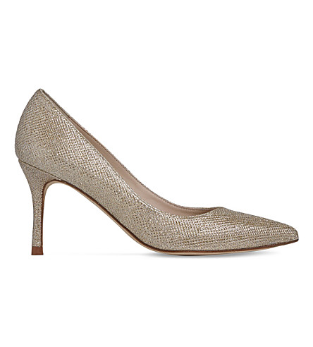 LK BENNETT Bianca single sole metallic heels (Cre-champagne