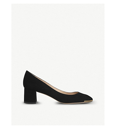 LK BENNETT Clemence suede block court heels (Bla-black