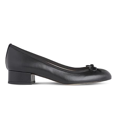 LK BENNETT Danielle leather ballet courts (Bla-black