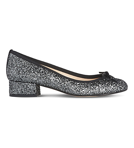 LK BENNETT Danielle glitter ballet courts (Gry-anthracite