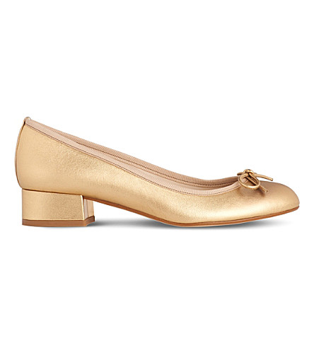 LK BENNETT Danielle leather ballet courts (Gol-gold