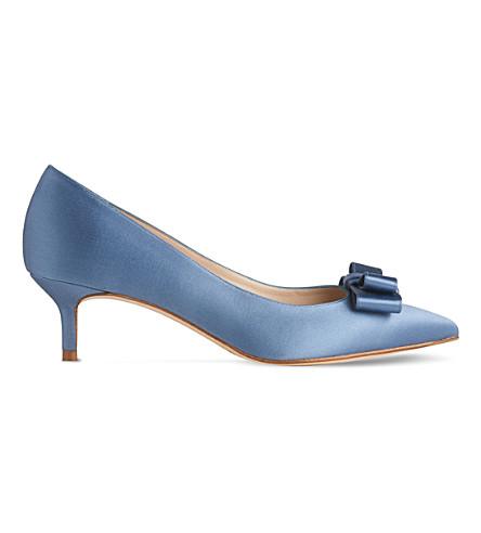 LK BENNETT Esme satin court shoes (Blu-powder+blue