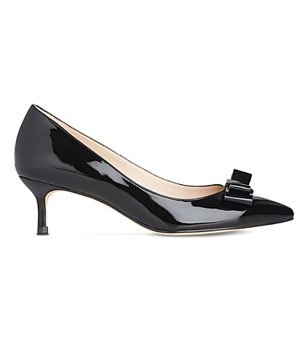 LK BENNETT Esme patent leather court shoes (Bla-black/gold