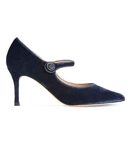 LK BENNETT Monica velvet Mary Jane courts (Blu-powder+blue
