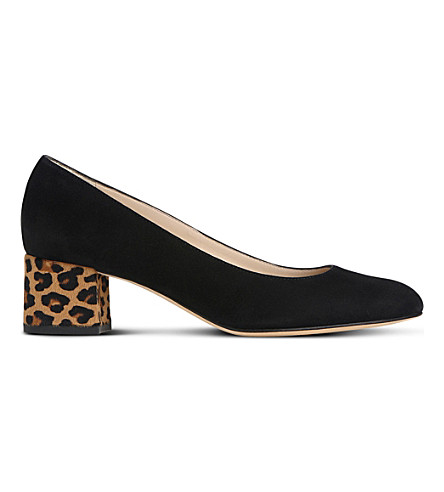 LK BENNETT Maisy suede and calfskin courts (Bla-black/natural