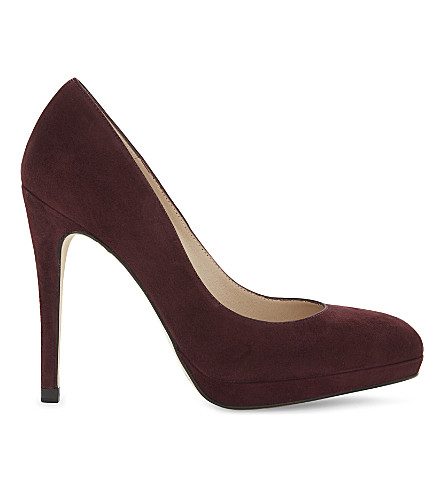 LK BENNETT Sledge suede platform courts (Red-oxblood