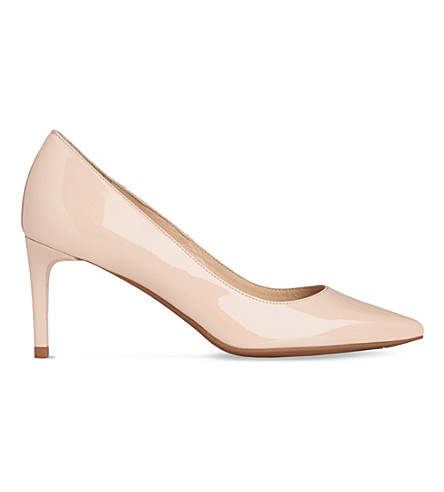 LK BENNETT Caisie patent leather courts (Nat-nude