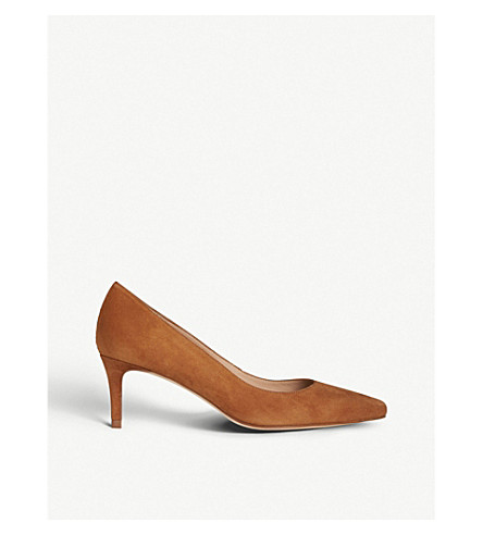 LK BENNETT Elma leather court shoes (Bro-tan