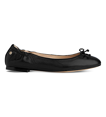 LK BENNETT Thea leather ballet flats (Bla-black