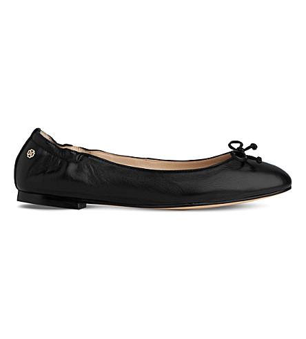 LK BENNETT 西娅皮革芭蕾舞平底鞋 (黑