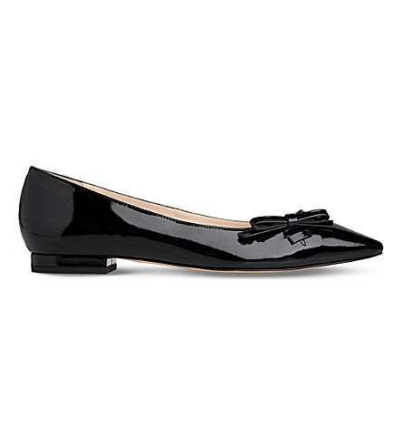 LK BENNETT Bea pointed toe flat (Bla-black