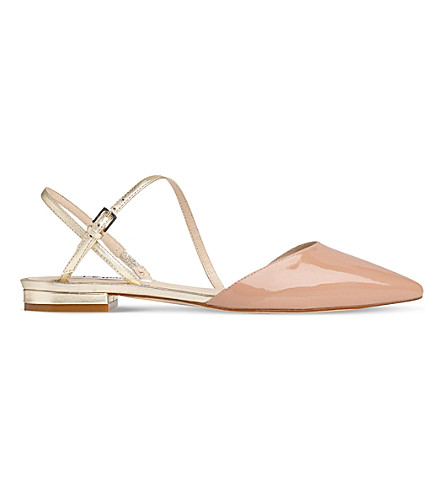 LK BENNETT Cari asymmetric leather flat (Mul-fawn/gold