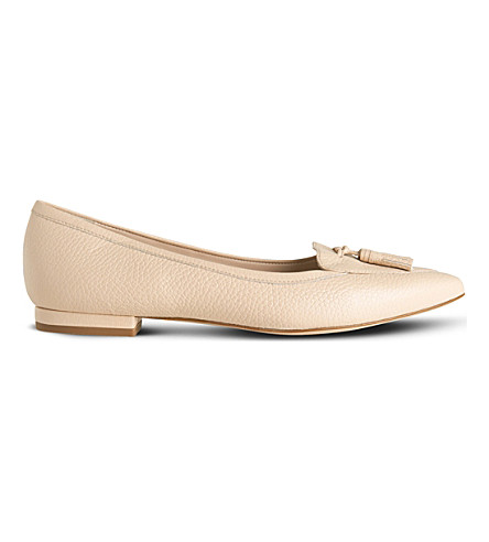 LK BENNETT Dixie tasselled leather flats (Pin-marshmallow