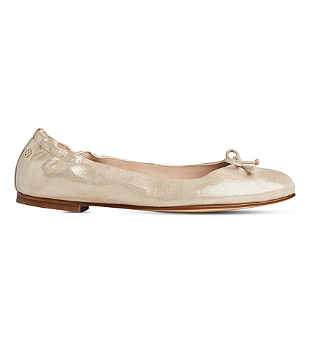 LK BENNETT Thea metallic leather ballet flats (Gol-soft+gold