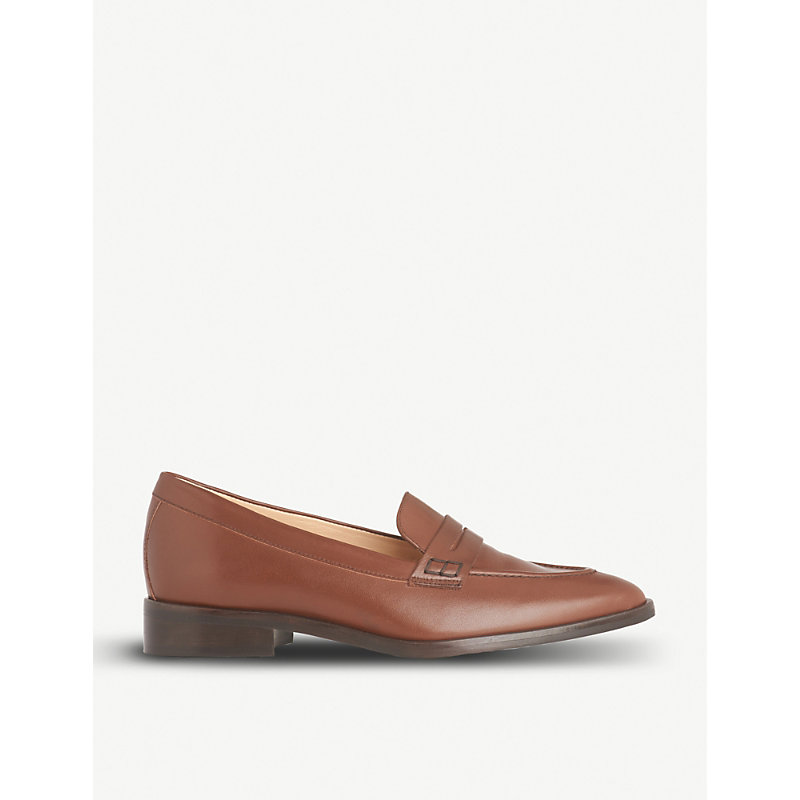 LK BENNETT IONA LEATHER PENNY LOAFERS