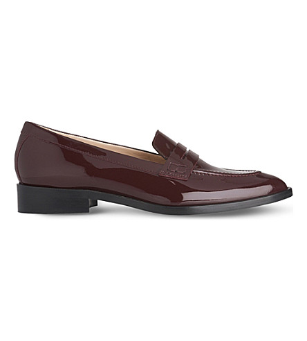 LK BENNETT Iona patent leather loafers (Red-oxblood