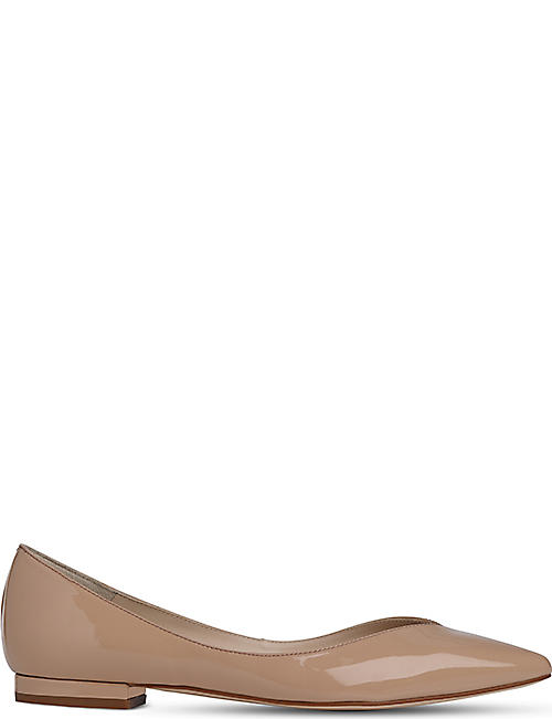 LK BENNETT Luisa pointed patent-leather flats