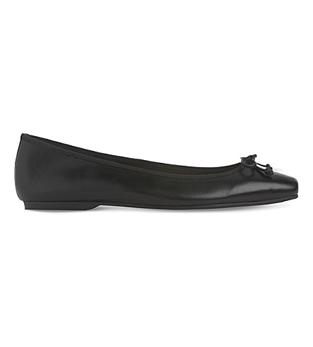 LK BENNETT Chelsey leather ballet shoes (Bla-black