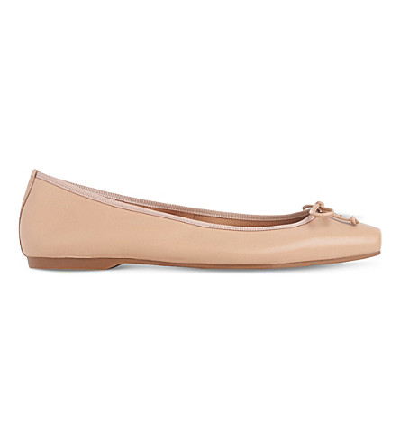 LK BENNETT Chelsey leather ballet shoes (Nat-nude