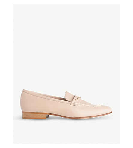 LK BENNETT Stevie leather loafers (Nat-stone