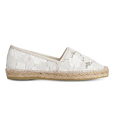 LK BENNETT Elsie lace espadrilles (Mul-white