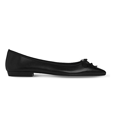 LK BENNETT Cici leather ballerina flats (Bla-black